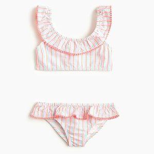 Crewcuts Girls size 6-7 Seersucker Bikini